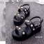 รองเท้า Platform แต่งมุก (สีดำ) thumbnail 6