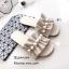 รองเท้าแตะจีบแต่งมุก (สีชมพู) thumbnail 1