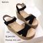 รองเท้าส้นเตารีดส้นปอแต่งสายรัด (สีน้ำตาล) thumbnail 7