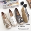 รองเท้าทรงสวมปักหน้าแมว (สีขาวผ้ากระสอบ) thumbnail 7
