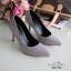 รองเท้าคัทชูกำมะหยี่สีเรียบ (แดง) thumbnail 14
