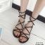 รองเท้าแตะพันขาสไตล์ Gladiator (สีดำ) thumbnail 2