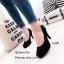 รองเท้าคัทชูหัวกลมกำมะหยี่สีดำ thumbnail 1