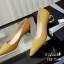 รองเท้าคัทชูส้นปรอทเงินสไตล์เกาหลี (สีเหลืองมัสตาร์ด) thumbnail 1