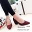 รองเท้าคัทชูส้นตันทรงหุ้มส้น (สีดำ) thumbnail 6