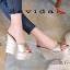 รองเท้าส้นเตารีดสวมแต่งหมุด (สีชมพู) thumbnail 5
