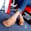 รองเท้าส้นเตารีดหนังนิ่มคาดหน้า (สีแดง) thumbnail 8