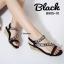 รองเท้าลำลองส้นเตารีดแต่งอะไหล่ (สีดำ) thumbnail 1
