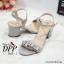 รองเท้าส้นตันสไตล์ MIU MIU (สีเงิน) thumbnail 6