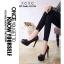 รองเท้าคัทชูส้นสูงหุ้มส้นแบบเรียบ (สีดำ) thumbnail 3