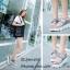 รองเท้าส้นเตารีดหน้ายิ้มแต่งเมจิกเทป (สีเทา) thumbnail 4