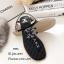 รองเท้าแตะแต่งเพชรสไตล์ CC (สีดำ) thumbnail 2