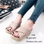 รองเท้าส้นเตารีดสวมไข้ว (สีครีม) thumbnail 2