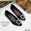 รองเท้าคัทชูส้นแบนสไตล์MN (สีแดงเลือดหมู) thumbnail 6