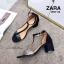 รองเท้าส้นตัน Style Zara T-Strap (สีแดง) thumbnail 12