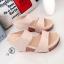 รองเท้าส้นเตารีดหนังนิ่มคาดหน้า (สีแดง) thumbnail 6