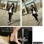 รองเท้าคัทชูส้นปรอทเงินสไตล์เกาหลี (สีเหลืองมัสตาร์ด) thumbnail 8