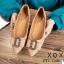 รองเท้าส้นแบนแต่งอะไหล่ Style Gucci (สีชมพู) thumbnail 3