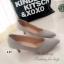 รองเท้าคัทชูเรียบทรงV (สีดำ) thumbnail 3