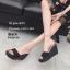รองเท้าส้นเตารีดหนังกลับทรงสวม (สีดำ) thumbnail 2