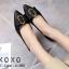 รองเท้าส้นแบนแต่งอะไหล่ Style Gucci (สีชมพู) thumbnail 5