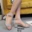 รองเท้าส้นตันรัดข้อ (สีเทา) thumbnail 3