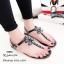 รองเท้าแตะแต่งเพชรสไตล์ CC (สีดำ) thumbnail 3