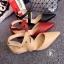 พร้อมส่ง : รองเท้าหัวแหลมหนังนิ่ม (สีครีม) thumbnail 8