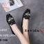 รองเท้าคัทชูทรงสวมปักลายผึ้ง Style Gucci (สีดำ) thumbnail 3
