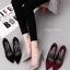 รองเท้าส้นสูงสักหลาดเรียบ (สีดำ) thumbnail 9