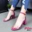 รองเท้าส้นตัดรัดข้อคาดใส (สีน้ำเงิน) thumbnail 7