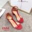 รองเท้าส้นตัน Style Zara T-Strap (สีแดง) thumbnail 3