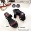 รองเท้าส้นเตารีดทูโทนสไตล์ลำลอง (สีดำ) thumbnail 2