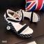 รองเท้าส้นเตารีดลาย Pokka Dot (สีครีม) thumbnail 5
