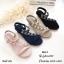 รองเท้าแตะเสริมส้นแต่งดอกไม้ (สีกรม) thumbnail 13