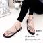 รองเท้าแตะสวมแต่งอะไหล่เพชร (สีดำ) thumbnail 2