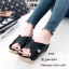 รองเท้าส้นเตารีดสวมไข้ว (สีดำ) thumbnail 2