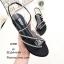 รองเท้าแตะสวมแต่งอะไหล่เพชร (สีดำ) thumbnail 5