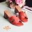 รองเท้าแตะสวมเสริมส้น Style Hermes (สีครีม) thumbnail 16