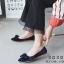 รองเท้าคัทชูส้นแบนกำมะหยี่โบว์มัด (สีดำ) thumbnail 5