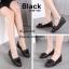 รองเท้าคัทชุหนังนิ่มแต่งชาย (สีดำ) thumbnail 2