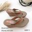 รองเท้าแตะคีบเสริมส้นสไตล์ลำลอง (สีดำ) thumbnail 4