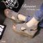 พร้อมส่ง : รองเท้าส้นเตารีดหนังสักหลาด (สีเทา) thumbnail 2