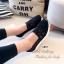 รองเท้าผ้าใบเสริมส้นลายลูกไม้ (สีกรม) thumbnail 8