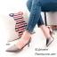 รองเท้าหัวแหลมรัดส้น Style Zara (สีเทา) thumbnail 3