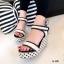 รองเท้าส้นเตารีดลาย Pokka Dot (สีครีม) thumbnail 1