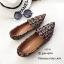 รองเท้าคัทชูต่อผ้าหลากสี (สีดำ) thumbnail 1