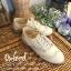 พร้อมส่ง : รองเท้า Oxford ผ้าลูกไม้ (สีครีม) thumbnail 1