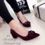 รองเท้าคัทชูแต่งหัวเข็มขัด (สีม่วง) thumbnail 3