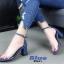 รองเท้าส้นตัดรัดข้อคาดใส (สีน้ำเงิน) thumbnail 2